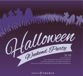 Halloween Friedhof Party Flyer