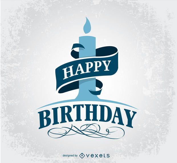 Feliz aniversário saudação design