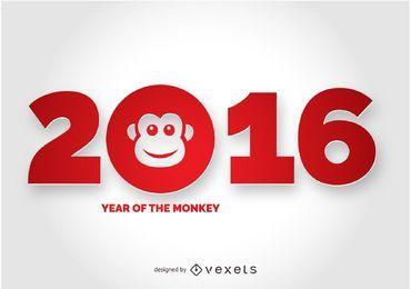 2016 Jahr des Affen-Designs