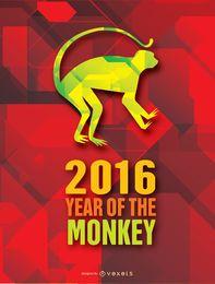 Jahr des Moneky-Hintergrunds 2016