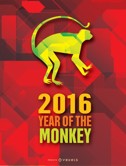 Year of the Moneky 2016 background