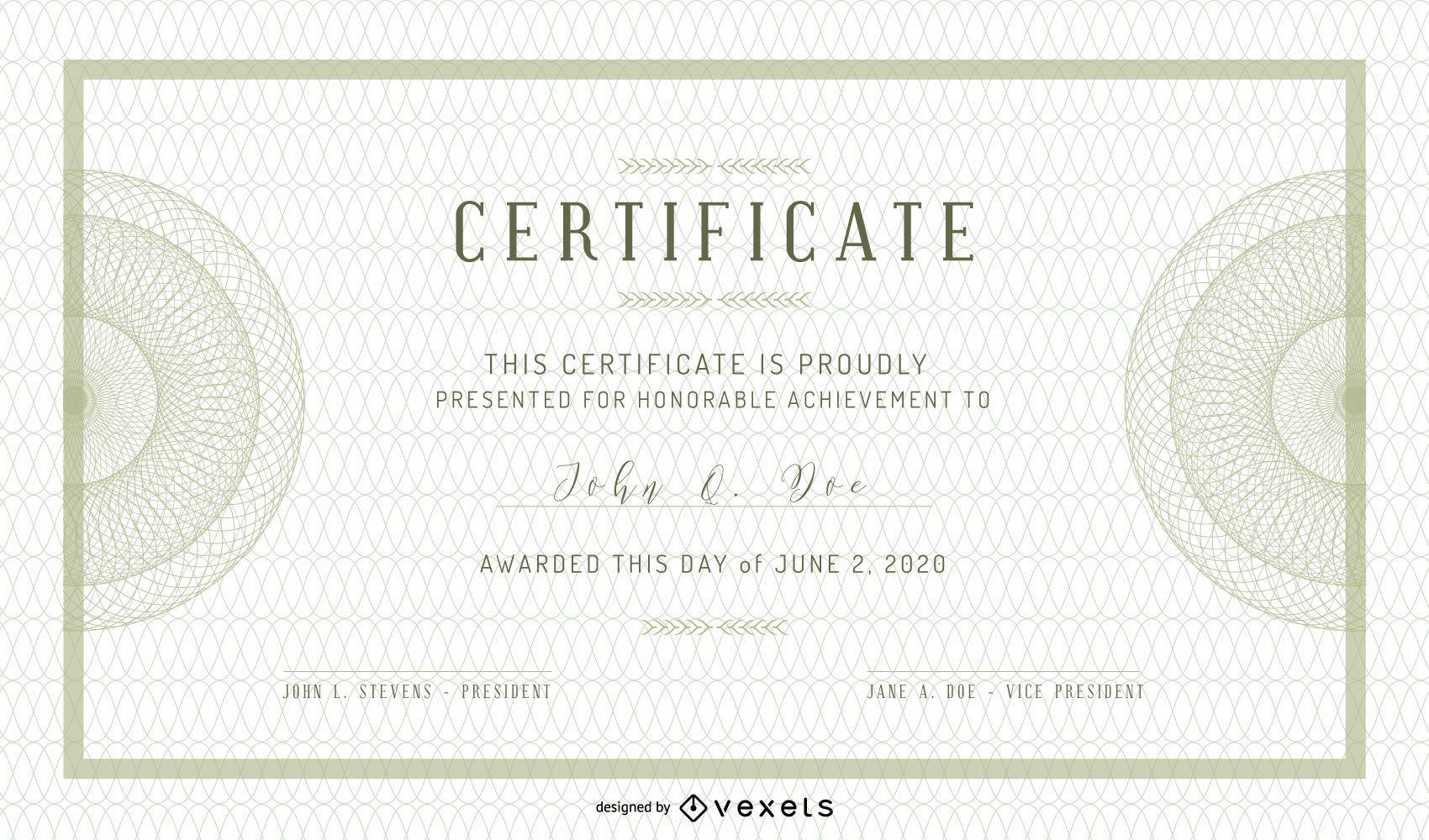 Plantilla de diseño de certificado de diploma