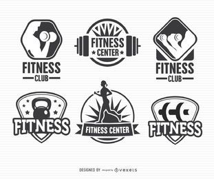 Fitness Label Badge Logo Set