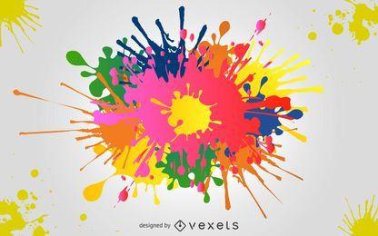 Fundo de respingo de tinta colorida