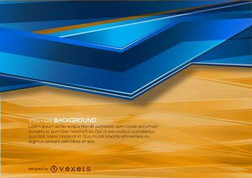 Fondo abstracto naranja y azul