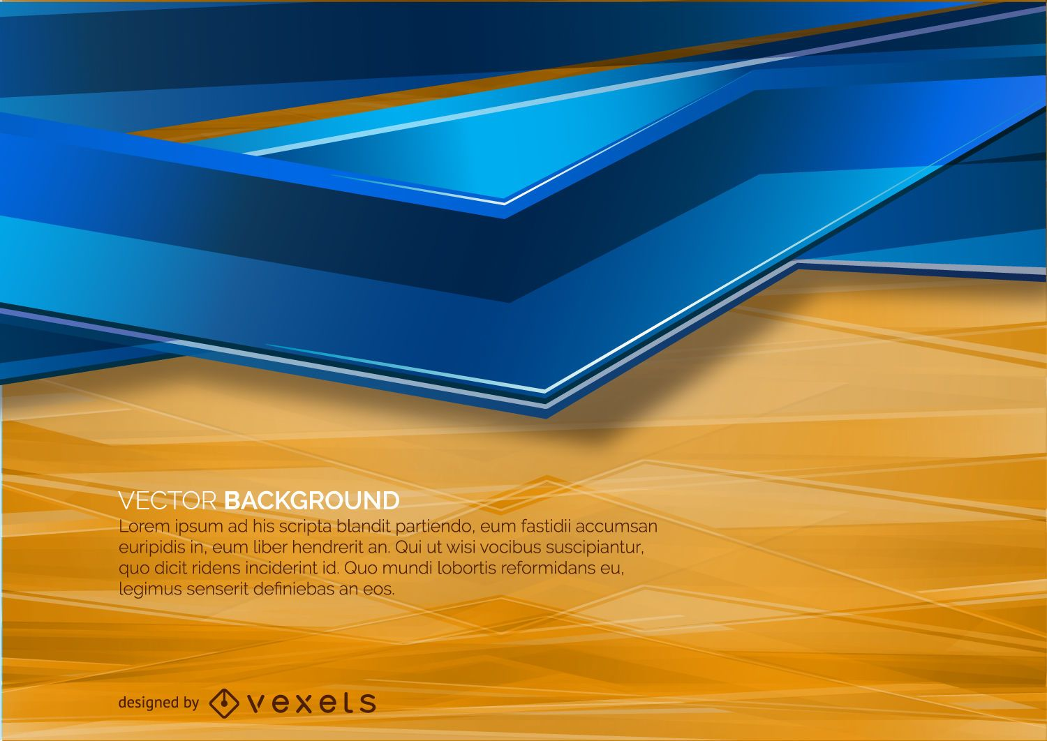 orange and blue abstract background vector download