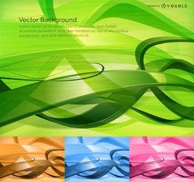 Tecnología de fondo abstracto 4 opciones de color