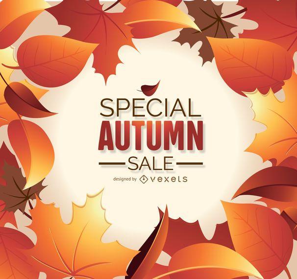 Outono venda gráfico