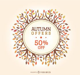 Distintivo de venda outono