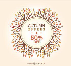 Herbst Verkauf Abzeichen