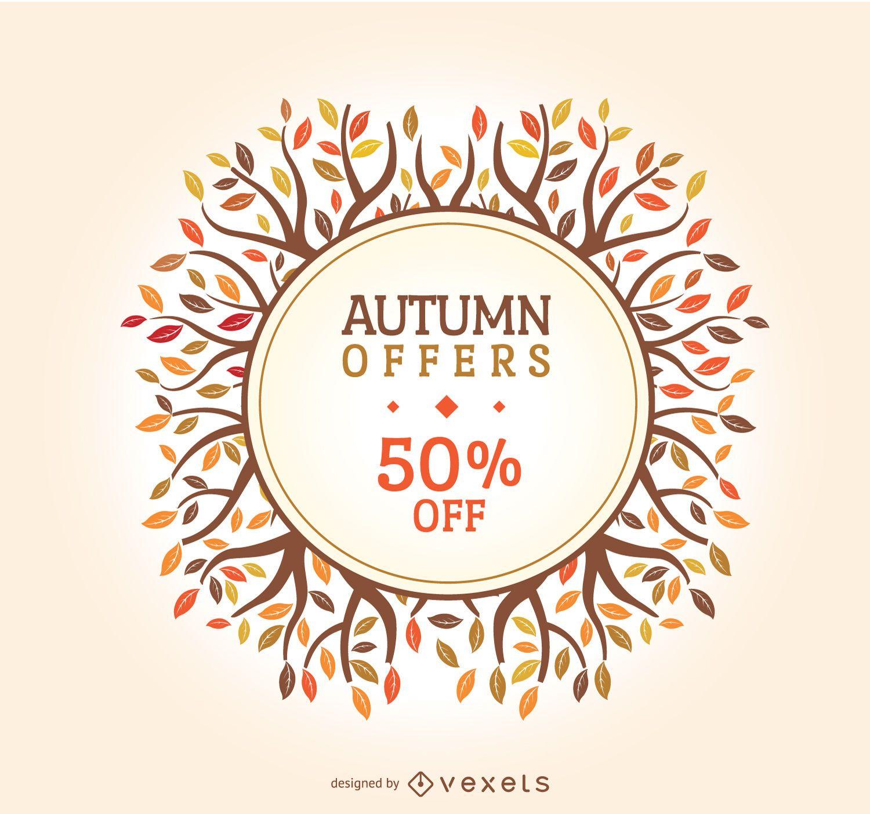 Autumn sale badge
