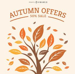 Autumn sale graphic