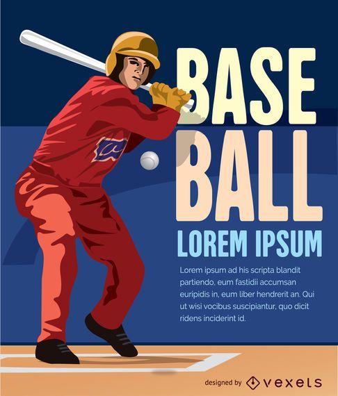 Massa de beisebol batendo bola