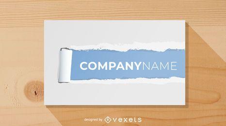 Diseño de tarjeta de visita de papel rasgado