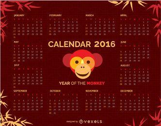 2016 Calendario con Moneky