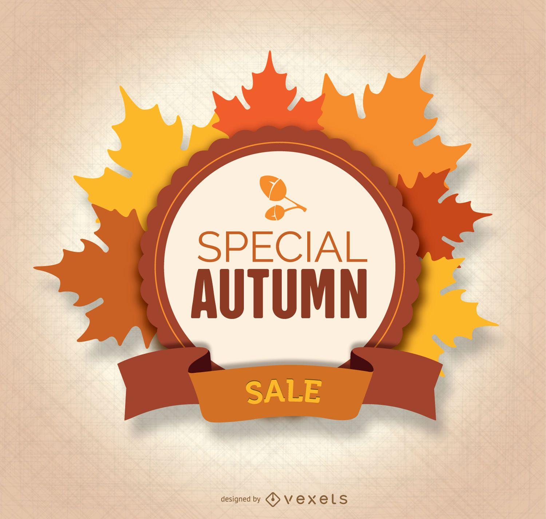 Autumn Sale leaves Logo