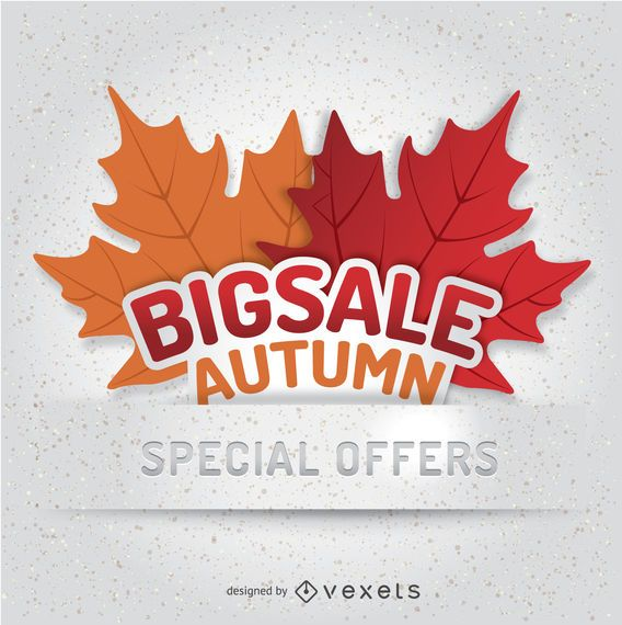 Autumn Sale badge template