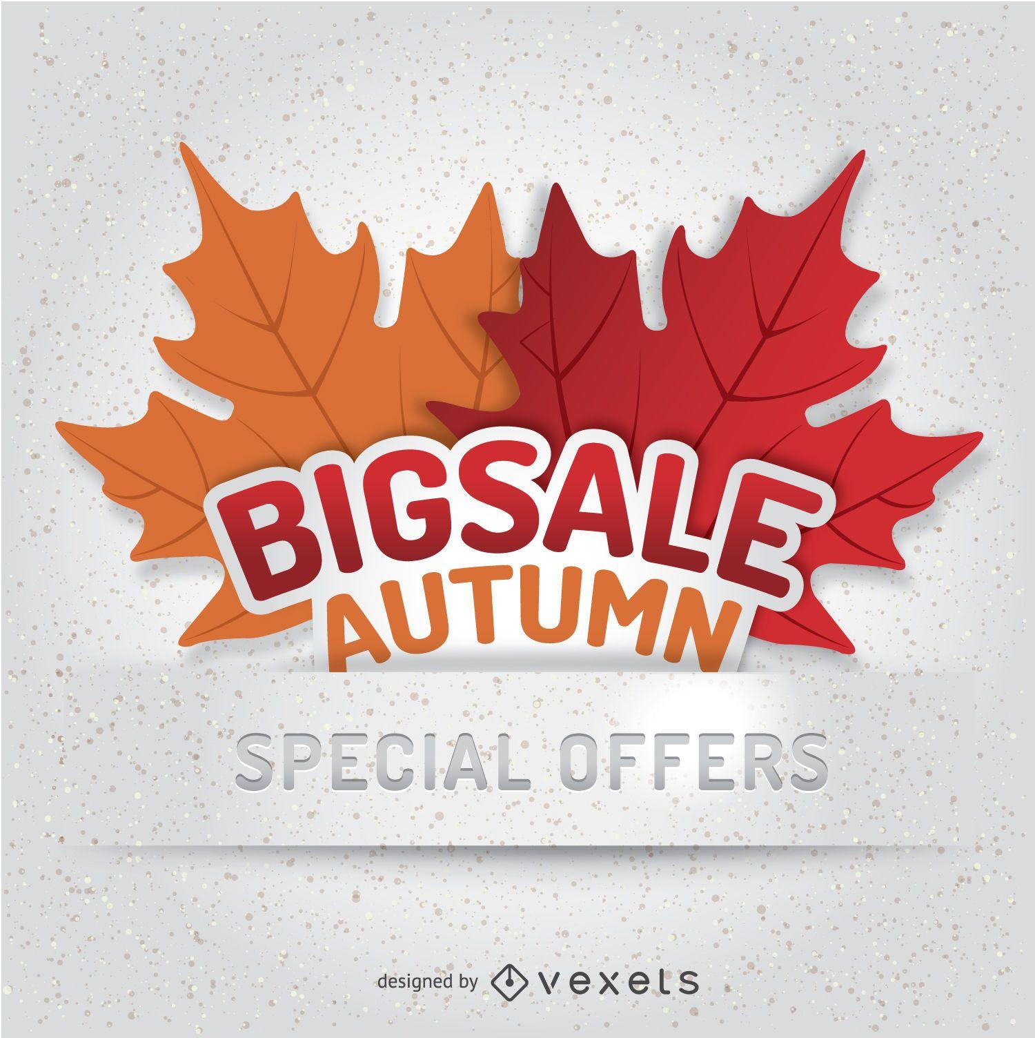Modelo de emblema de venda de outono