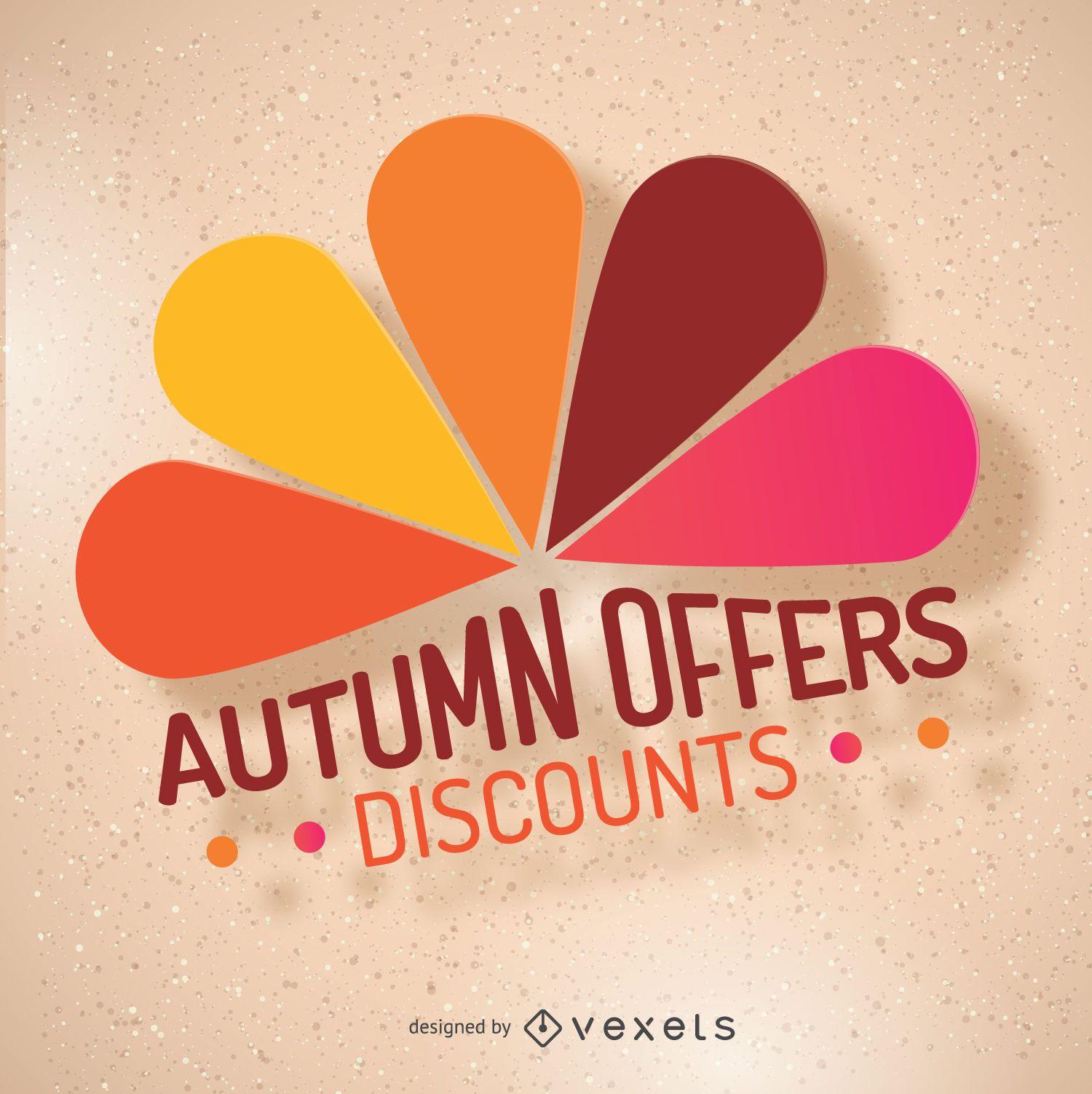 Autumn discount labels