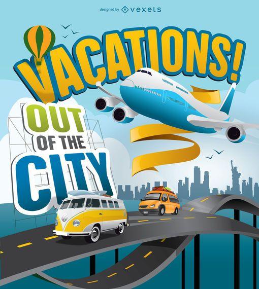 Urlaub außerhalb der Stadt