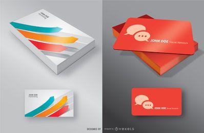 Presentación de la tarjeta de visita maqueta