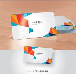 Design de apresentação de cartão de visita