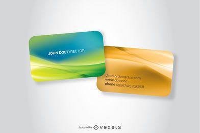 Conjunto de modelo de cartões de visita abstrata