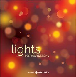 Diseño de luces borrosas bokeh