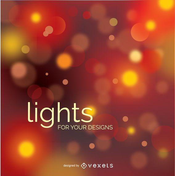 Bokeh blurry lights design