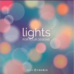 Fondo de Abstact Bokeh luces de colores suaves