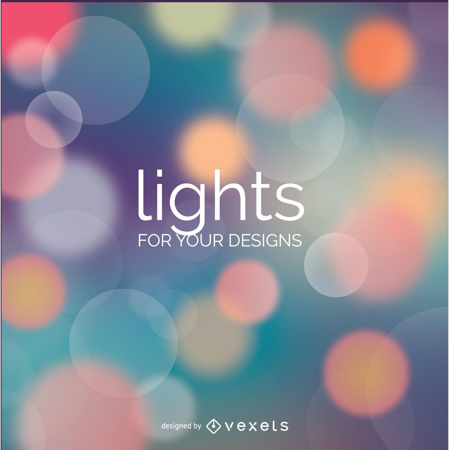 Fondo Bokeh luces colores suaves