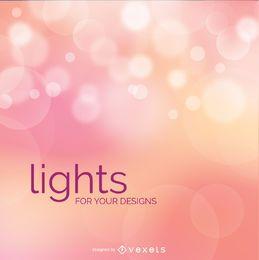 Fondo de luces borrosas bokeh rosa
