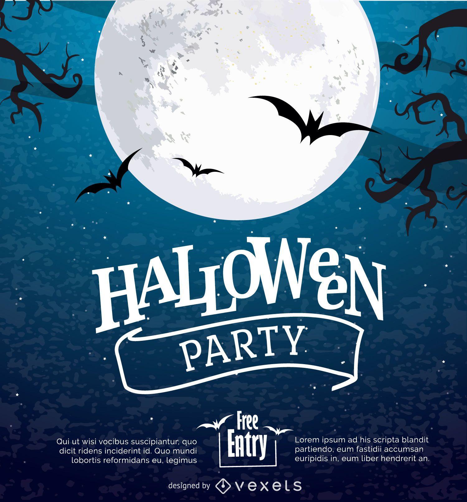 Halloween Mond Poster