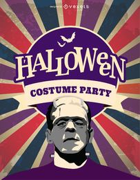 Halloween Frankenstein costume party invitation