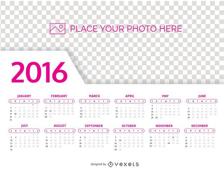 Foto-Vorlage für 2016 Kalender