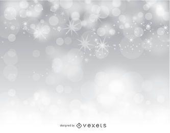 Silberner bokeh abstrakter Hintergrund