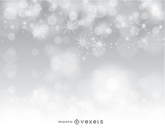 Silver bokeh abstract background