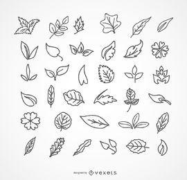 Blätter packen