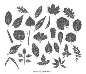 Conjunto de iconos de hojas de trazo