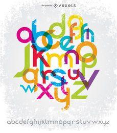 Typografie-Schriftarten geben Sans Serif