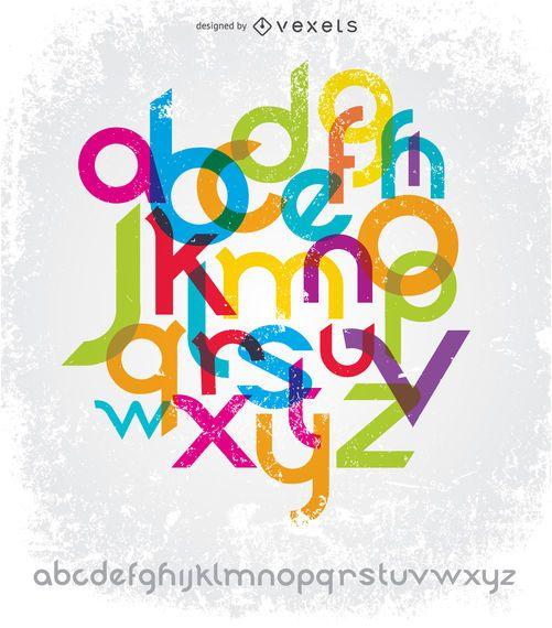 Fontes de tipografia digite Sans Serif
