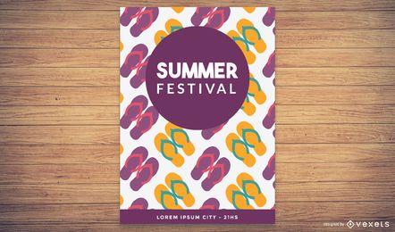 Cartaz Funky do festival de verão