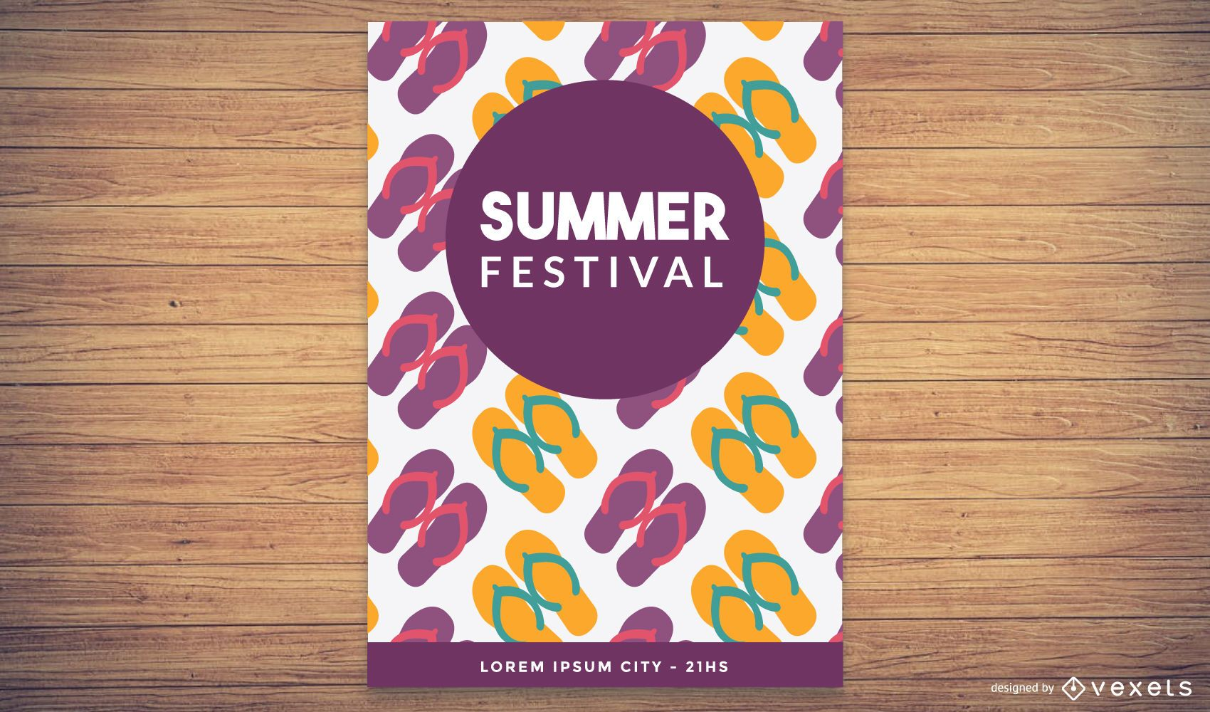Cartel del festival de verano funky