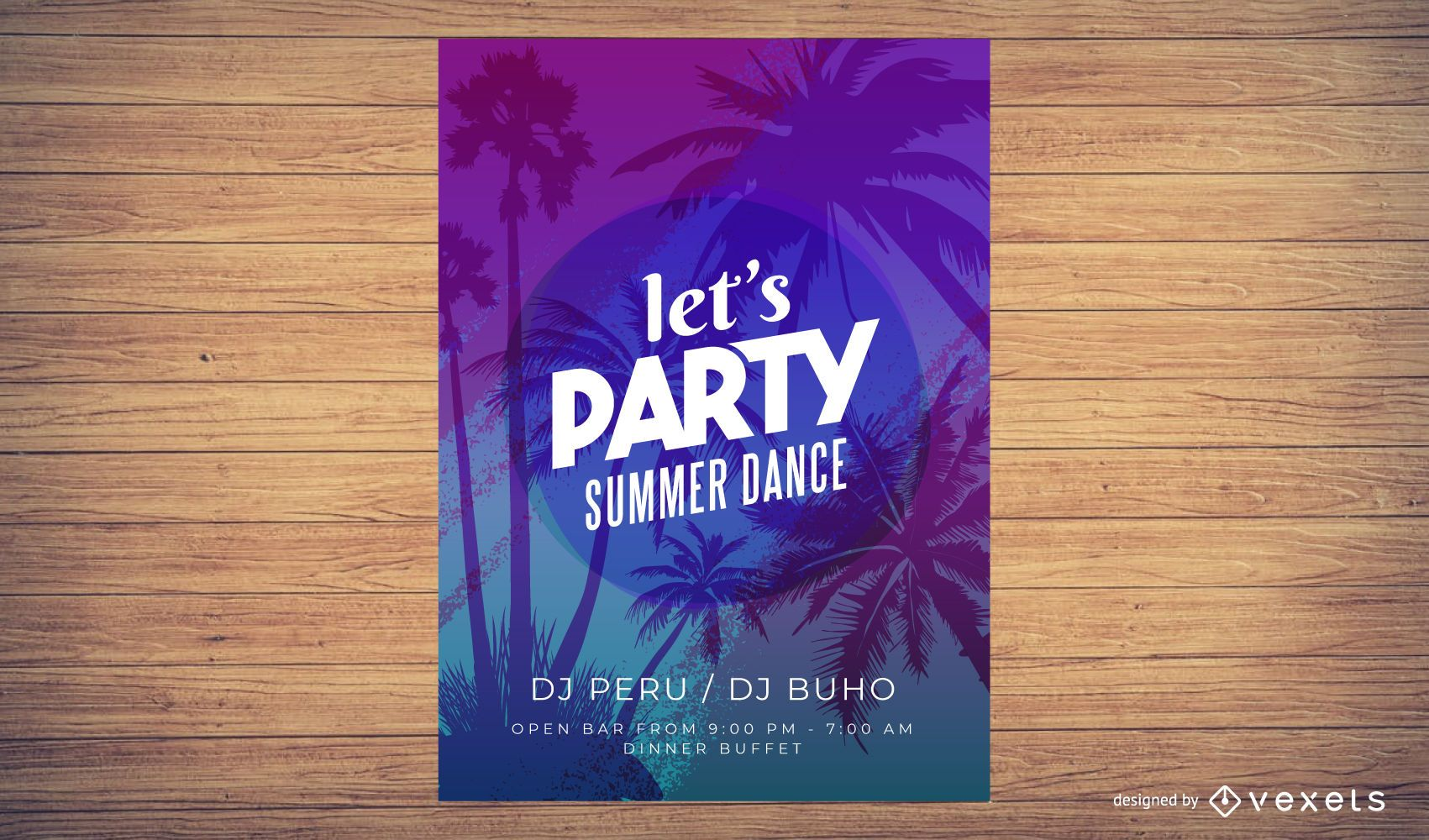 Colorful Summer Time Party Poster