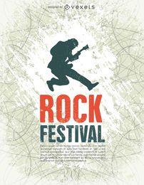 Festival de rock cartel tempalte