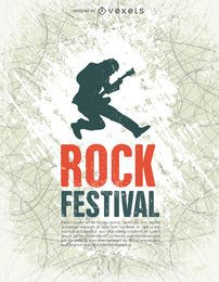 Festival de rock poster tempalte