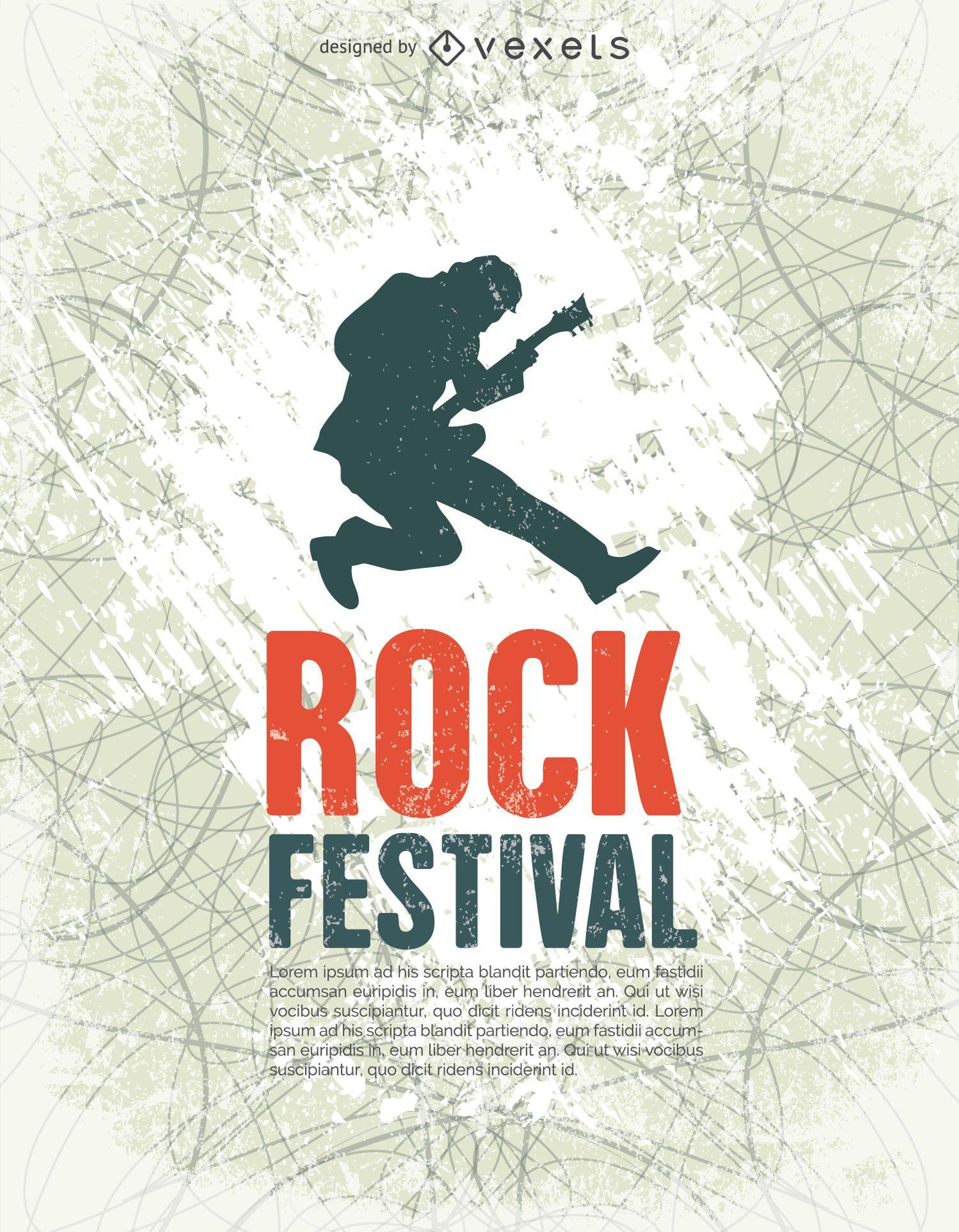 Rock Festival poster tempalte