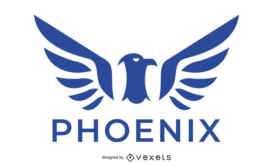 Blue Phoenix Bird Logo Vector Download
