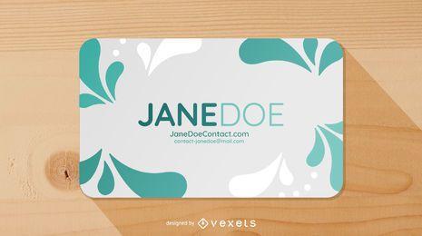 Modern Die Cut Business Card