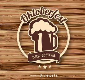 Emblema do logotipo da Oktoberfest